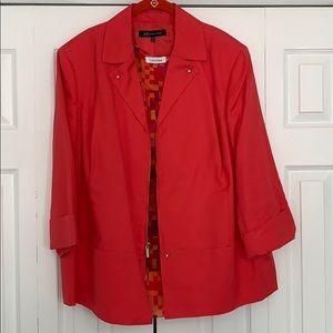 Anne Klein/ Calvin Klein blazer and blouse set